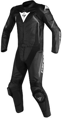 Dainese Avro D2 BLACK ANTHRACITE MOTORCYCLE LEATHER SUIT MEN'S 2 Part