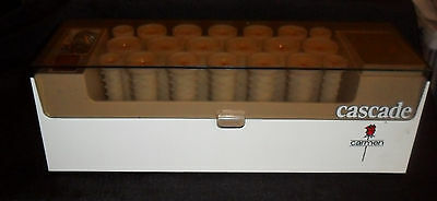 CARMEN CASCADE 20 HOT ROLLERS CURLERS with PINS - GOOD CONDITION Made in Denmark