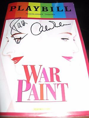 War Paint Pride Broadway playbill Autographed by Lupone & Ebersole