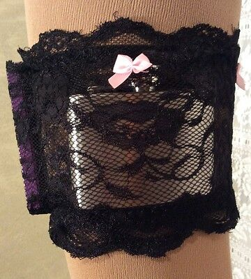 Leg Candy Stockings Lace Garter Belt Pockets Bride Bridal  21St 18Th Festival