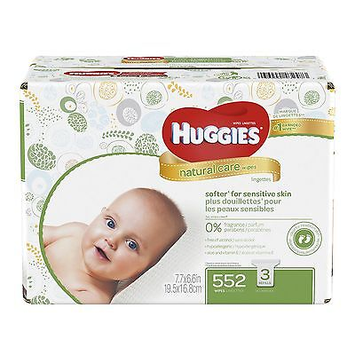 HUGGIES Natural Care Baby Wipes Refill Pack (552  Sheets Total) Fragrance-fre...