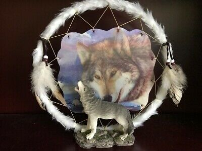 Wolf Dreamcatcher Ornament - Brand New