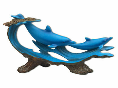 The Seven Seas Collection - Two Dolphins Resin Plaque - Brand New