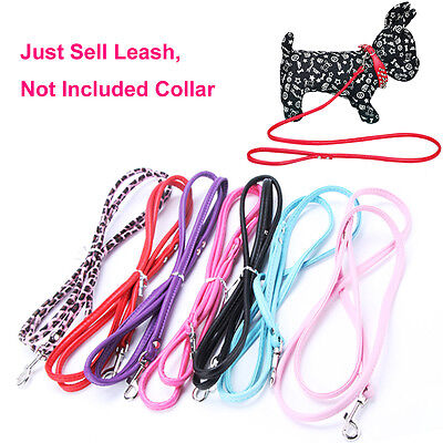 Cute Flexible Dog Cat Walking Rope Pet Leash Long Smooth PU Leather Lead Wire
