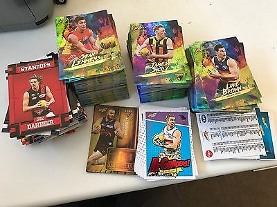 HUGE BULK LOT of 2017 FOOTY STARS INSERTS HOLOFOILS A-GRADERS MILESTONES ~450
