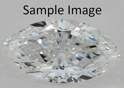 0.5 Ct Carat I Color VVS1 Clarity Marquise Cut Natural Earth Mined Loose Diamond