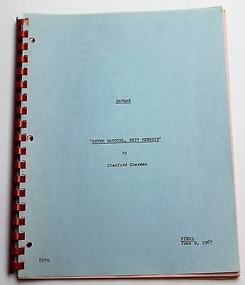 BATMAN * ADAM WEST 1967 Original TV Show Series SCRIPT with Colored Pages *
