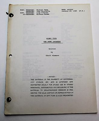 Miami Vice * 1984 Original TV Show Script * Season 1, Episode 19 * Home Invaders