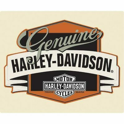 Harley Davidson Genuine Banner Die Cut Embossed Tin Sign Brand New