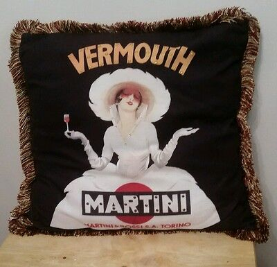 Martini & Rossi Torino Pillow Bianco by Marcello Fine Art Woman Vermouth