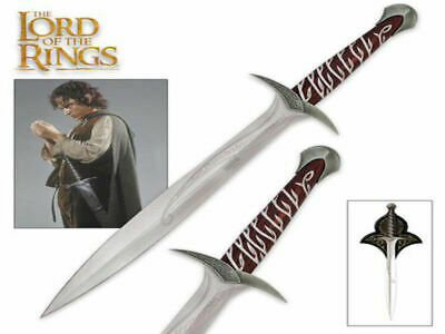 Lord Of The Rings Sting Sword Of Frodo (85cm) with Wood Plaque - Brand New