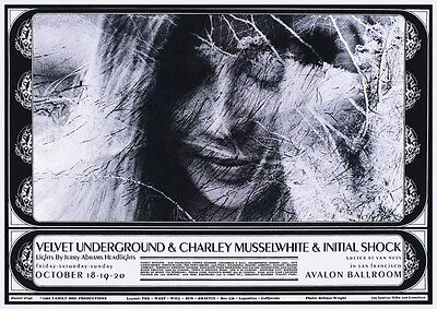 Velvet Underground POSTER Live with Charley Musselwhite Lou Reed John Cale Nico