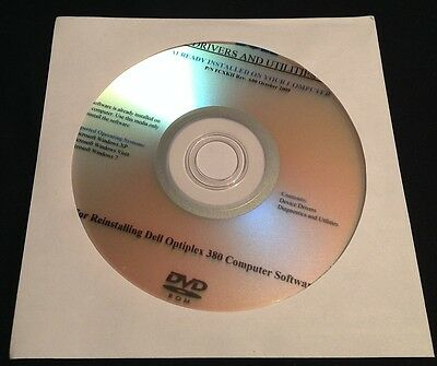 DELL Optiplex 380 Drivers CD DVD Disc