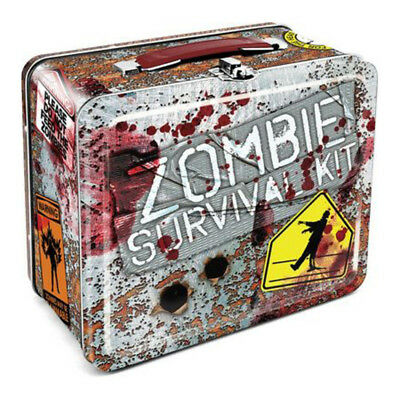 Zombie Survival Tin Carry All Fun Box / Lunch Box - Brand New