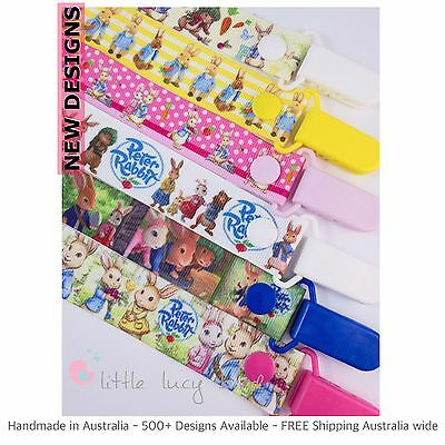 Peter Rabbit Hand Made Dummy Clip - Pacifier Clips - Soother Chain (DC100415-4)