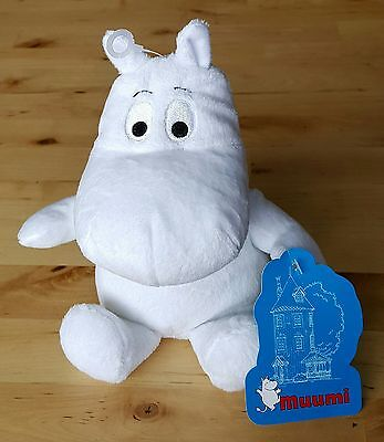 """Moomin 8"""" Soft Toy - Moomintroll (With Black Eyes)"""