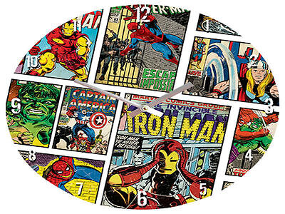 Iron Man Glass Clock Brand New