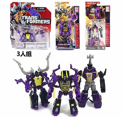 Set 3 Transformers Legends Class Insecticons Bombshell Shrapnel Kickback New