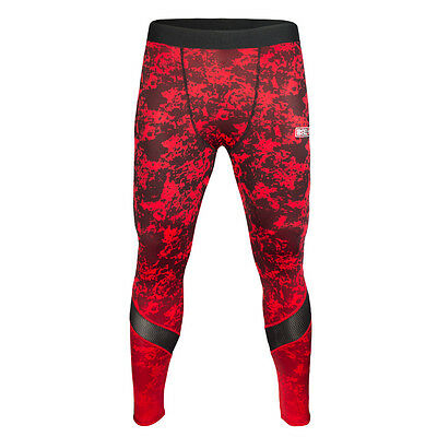 Compression Pants Bad Boy X-Train - Red/Black Spats MMA BJJ Fitness