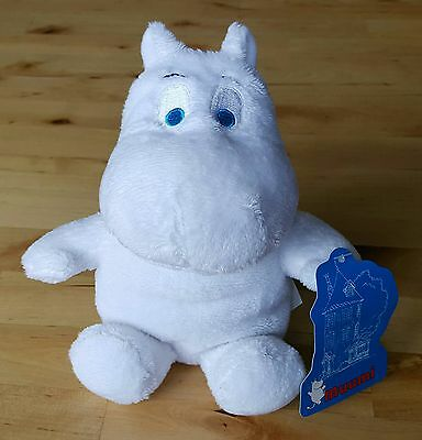 """Moomin 8"""" Soft Toy - Moomintroll (With Blue Eyes)"""