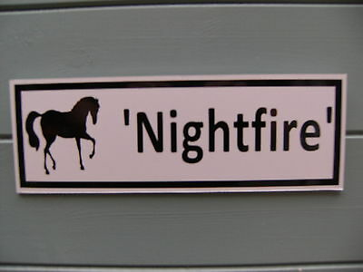 A stable/equine horse nameplate with free p&p