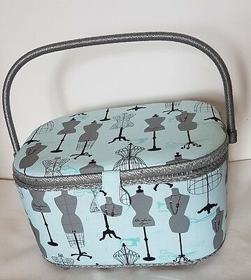 St. JANE COLLECTION SEWING BOX BASKET with handle and organising tray. New
