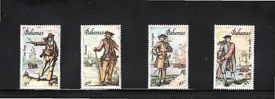 Bahamas 1987 Pirates & Privateers of the Caribbean SG 786/9 MUH