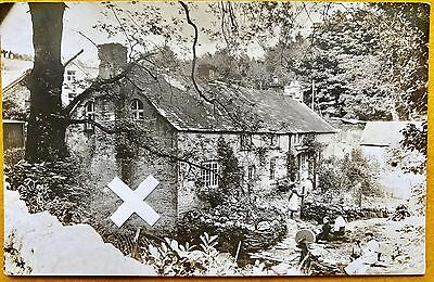 Rp Postcard. Interesting House In St Tudy? Cornwall.