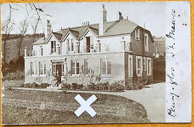 Rp Postcard. Newly Built House In St Mawes, Cornwall. 1905
