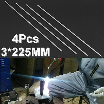 4pcs 225x3mm Aluminium Low Temperature Welding Soldering Brazing Rods