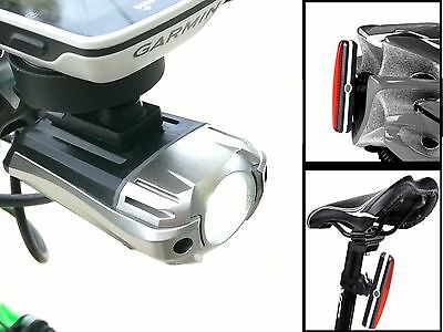 Super Bright 300 Lumens CREE LED Bike Front Headlight Rear Tail Light Set USB
