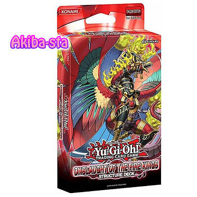Yugioh English SDOK Structure Deck Onslaught of the Fire Kings 1st Sealed!