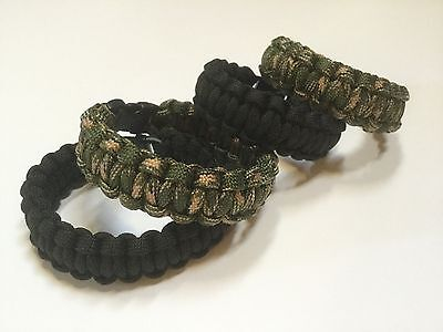 Paracord survival bracelet 550 7 Strand Cord Emergency Rope Black And Green Camo