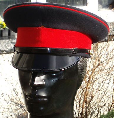 56M Black Adjutant General Corps PEAKED CAP/HAT British Army military chauffeur