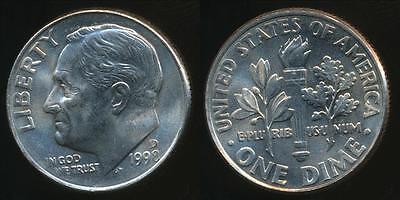 United States, 1998-D Dime, Roosevelt - Uncirculated