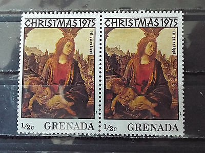 Paire 2 timbres neuf Grenada : Christmas ( Noël ) 1975