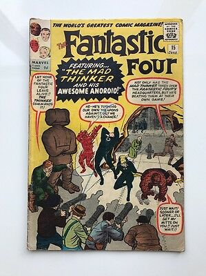 Fantastic Four #15 1963 Marvel Silver Age Comic