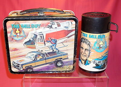 THE FALL GUY 1981  METAL  LUNCH BOX & THERMOS Lee Majors Aladdin