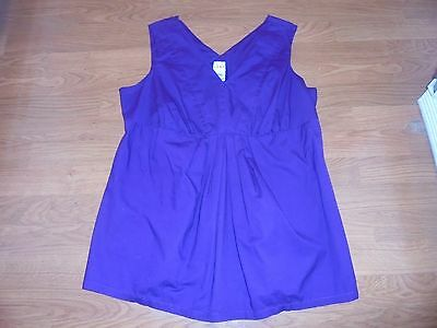 Duo Maternity stylish purple sleeveless shirt size L
