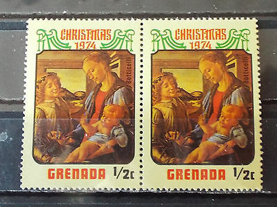 Paire 2 timbres neuf Grenada : Christmas ( Noël ) 1974