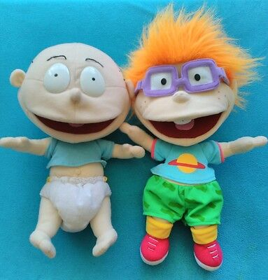 Nickelodeon RARE Rugrats Rug Rats Characters Plush Hand Puppet Chuckie Tommy
