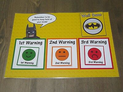 Lego Batman Behaviour Reward Chart - Warning Chart - Kids Children Batman