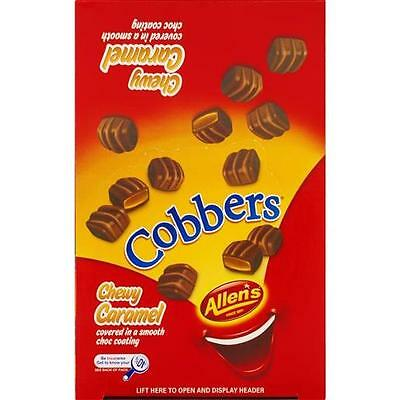 Allens Cobbers 1.8kg 320 Chocolate Chewy Caramel Bulk Cobbers Free Shipping