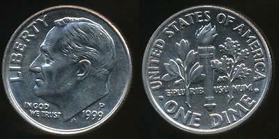 United States, 1999-P Dime, Roosevelt - Uncirculated