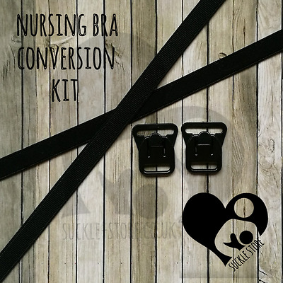 DIY Nursing Bra Conversion Kit - Black/White/Nude. Nursing Maternity Breastfeed