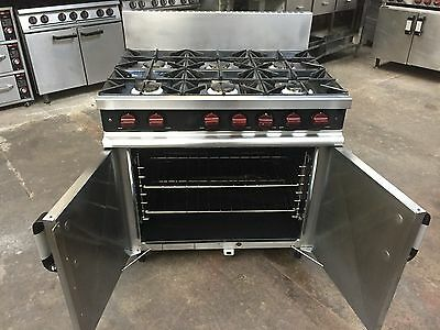 Moorwood Vulcan Commercial Catering 6 burner Cookers,Natural Gas Oven, with FFD