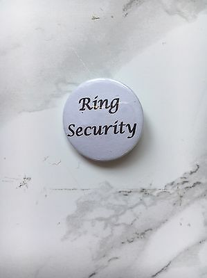 Ring Security Pin Badge. Wedding. Ring Bearer. Page Boy