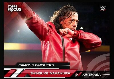 SHINSUKE NAKAMURA Focus Famous Finishers 2017 Topps WWE Slam Digital Video Card
