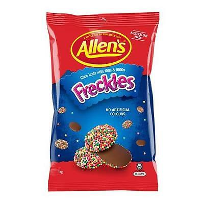 Allens Freckles 1kg Bag Chocolate Sweets Buffet Candy Lollies Kids Party Favors