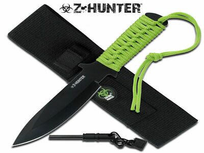 Z-Hunter Fixed Blade Knife (22.5cm) with Fire Starter + Sheath - Brand New